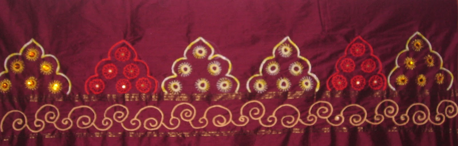 Saree broder embroidery designs