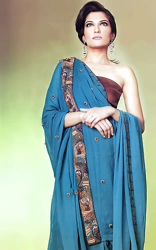Blue Saree Design Collection