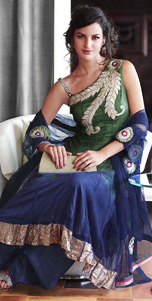 Sleeveless Party Salwar Kameez 2012 Collection