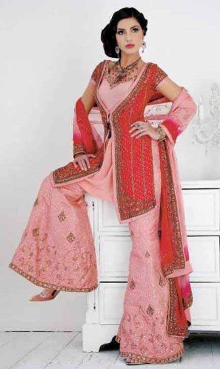 Latest Wedding Sharara Designs 2011