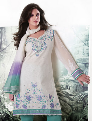 White Salwar kameez