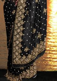 beaded embroidery sarees