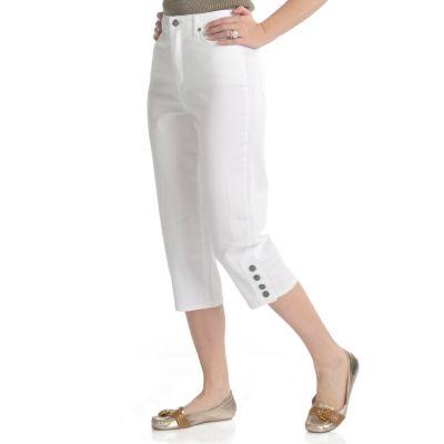 bestow slimming apparel tummy control clamdigger capri pants vintage