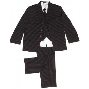 boys 5 piece black pinstripe suit
