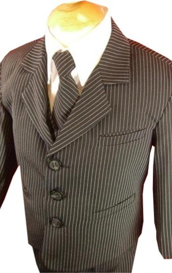 boys pin stripe suit
