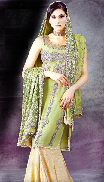 green yellow sharara Style