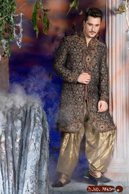 indo western banarsi sherwani collection