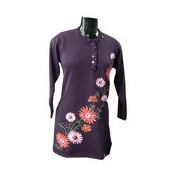 long kurti floral embroidery
