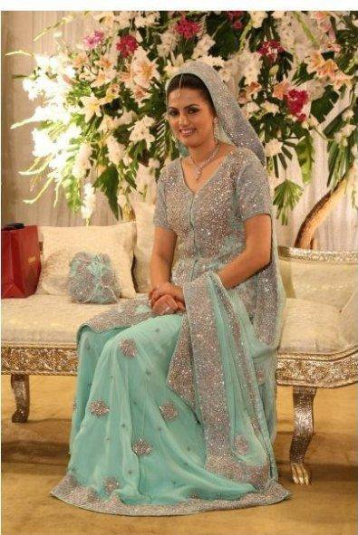 sky blue sharara wid open shirt
