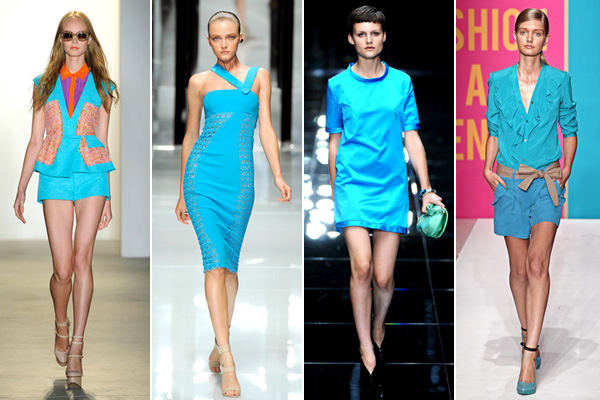 spring 2011 color trends aqua blue
