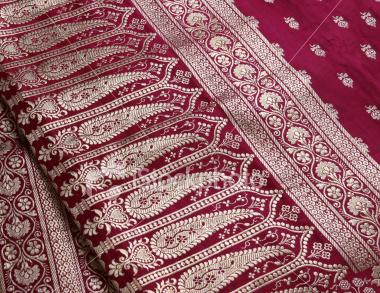 indian saree embroidery design close up