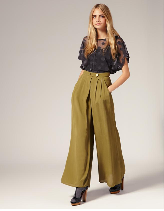 topshop palazzo pants trousers spring summer 2011 collection