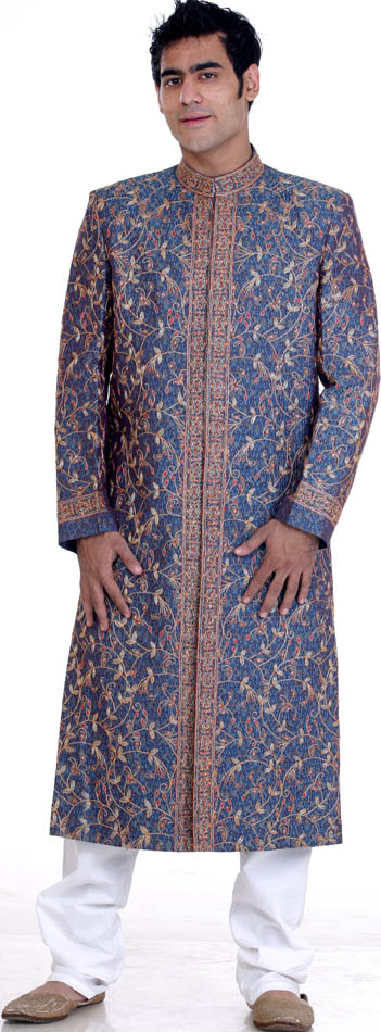 wedding sherwani with all over multicolor embroidery Sherwani xitefun