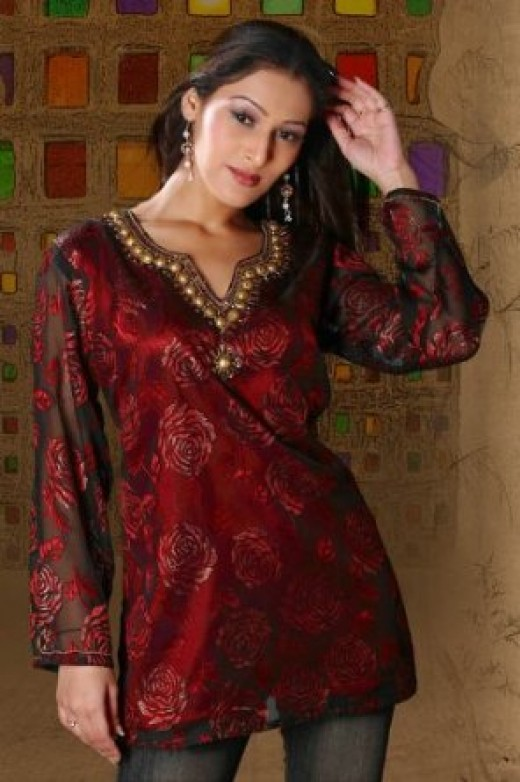 kurti designs for Winter 2012