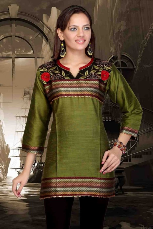 Latest kurti designs for Winter 2012