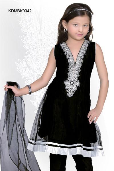 Black Anarkali Churidar Suit