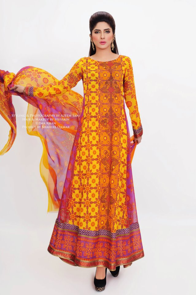 Latest Fashion Summer Lawn Dresses 2012 For Girls