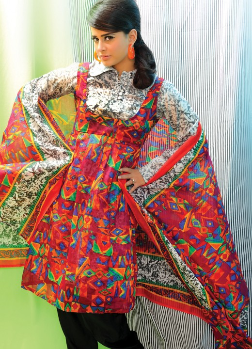 Nishat Lawn Dress Collection 2012