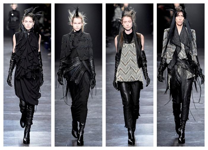 Ann Demeulemeester Fashion Show