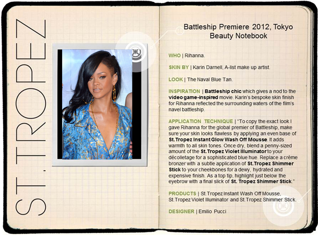Battleship Premier Beauty Notes Rihanna