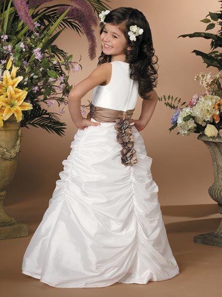 Beautiful White formal dresses for girls