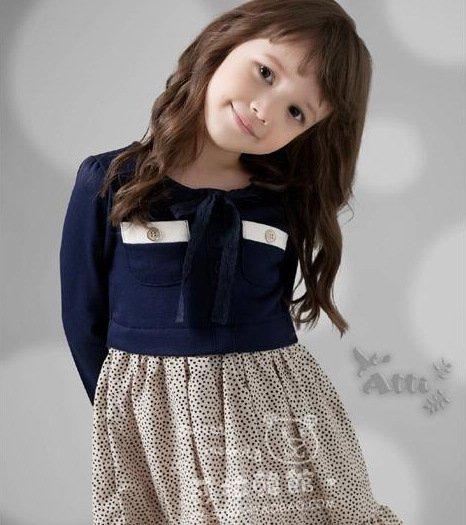wholesale girls dress casual dresses lace dress children baby kids wear 2 color