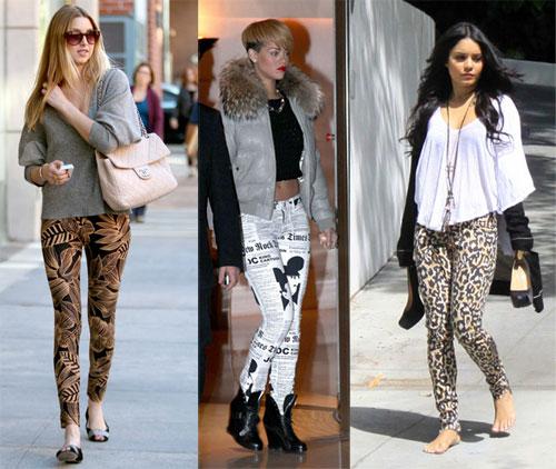 Celebrity Printed Pants Fashion