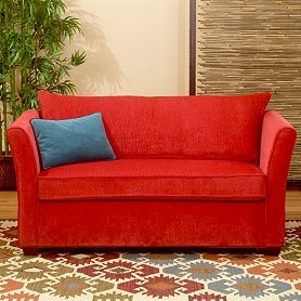Exotic Red Loveseat Sleepers