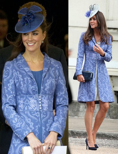 kate blue Coat