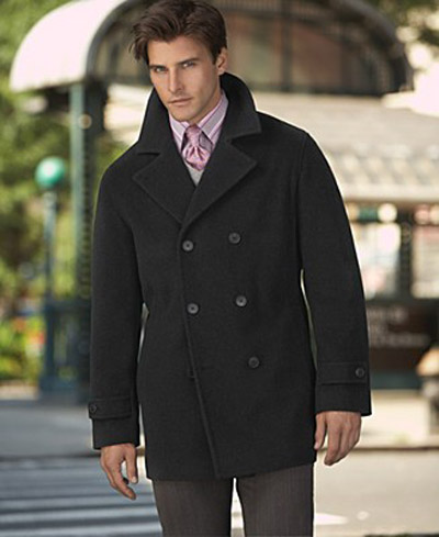 mens pea coat cheap