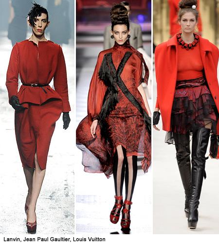 red fashion pants
