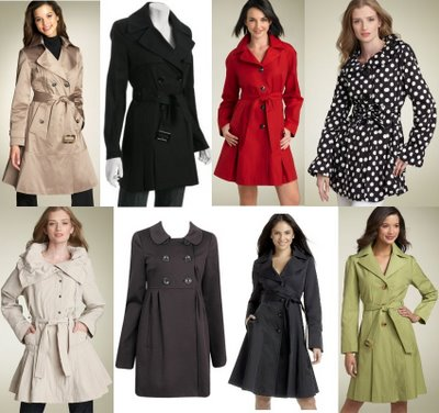 skirted trench coats