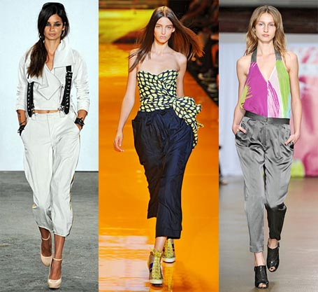 slouchy pants fashion week trend