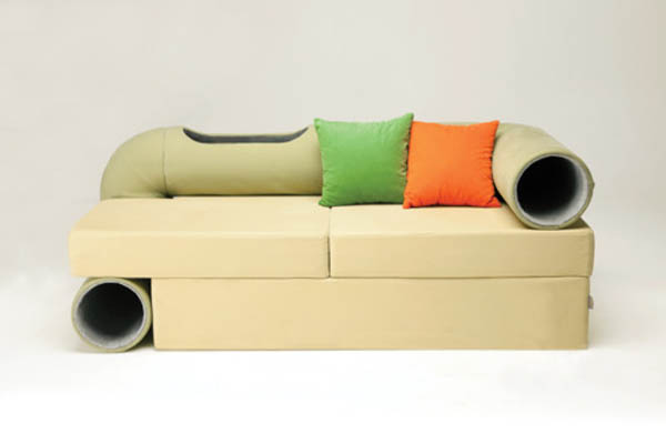 Beautiful cat tunnel sofa