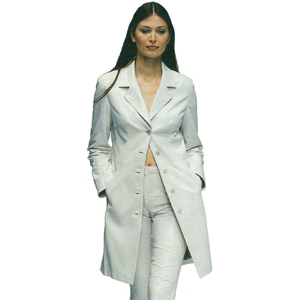 Women's White Leather Suit Coat Pant Tailored Fit Suit