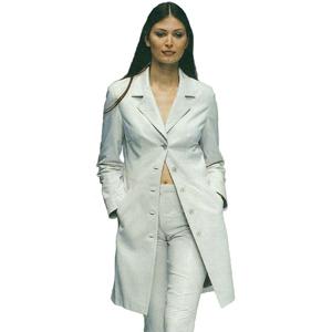 Women's White Leather Suit Coat Pant Tailored Fit Suit