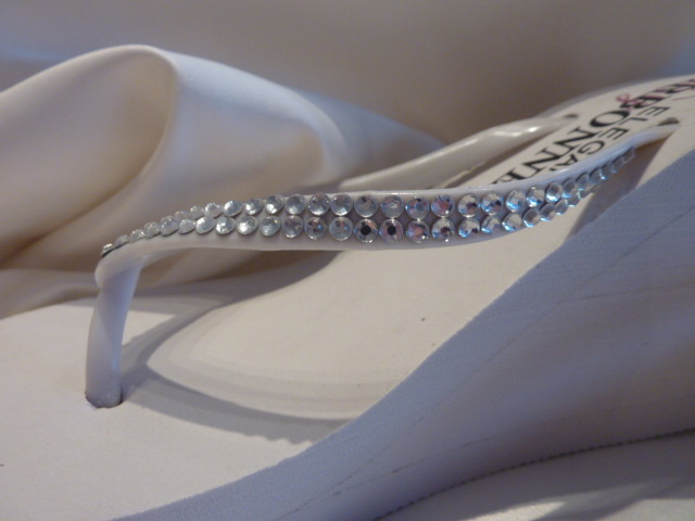 bridal flip flops with crystals