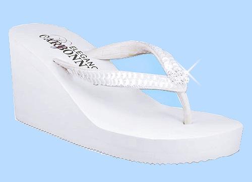 bridal platform flip flops for women