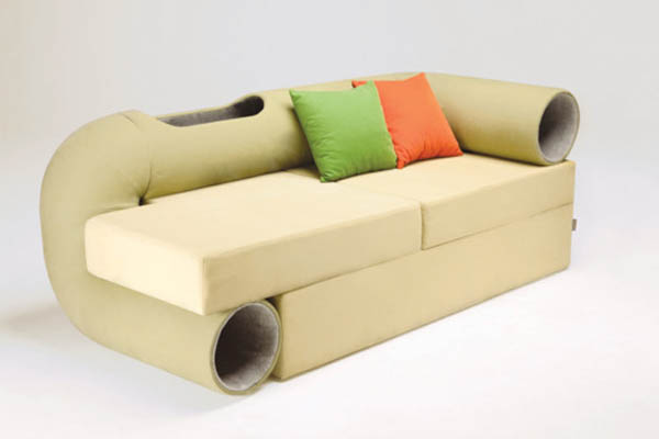 cat tunnel sofa Design