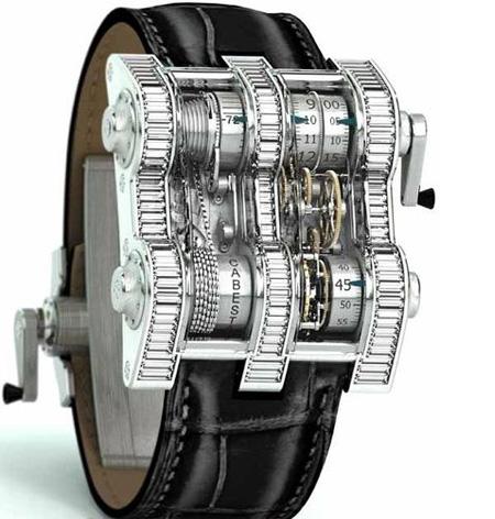 Cabestan Winch Tourbillion Watch having Vertical Shape