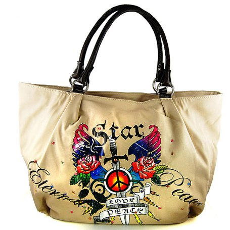 tattoo inspired star handbag