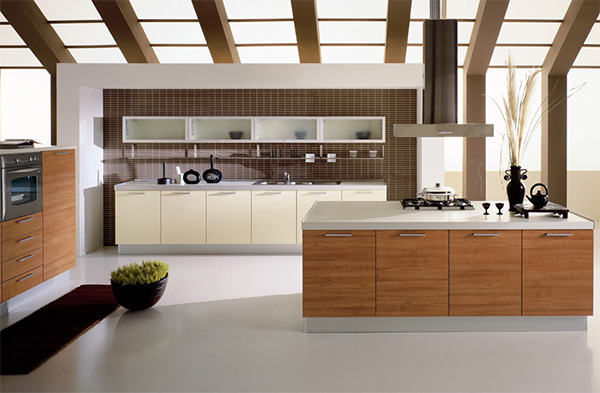 Colorful and Modern Open Kitchen Design