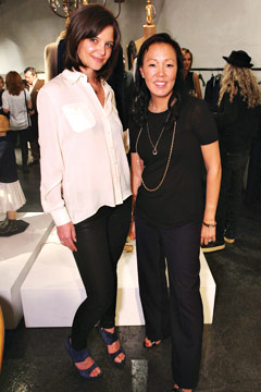 Katie Holmes and Jeanne Wang