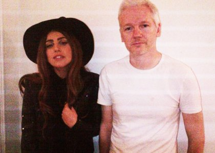 Lady Gaga Pays a Visit to WikiLeaks Founder