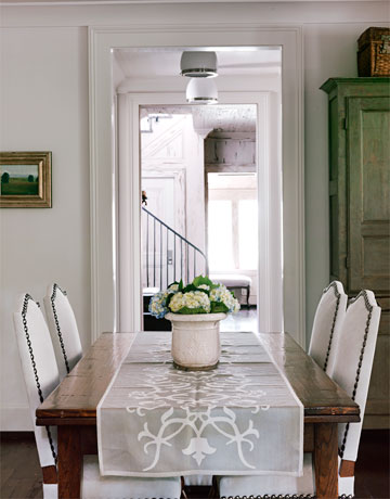 french country farm table dining room