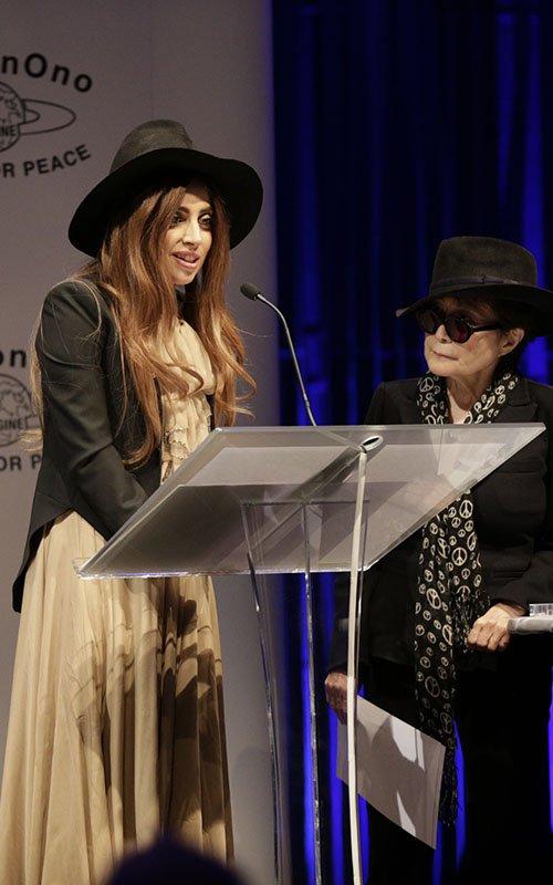 Lady Gaga visits the Ecuadorian Embassy