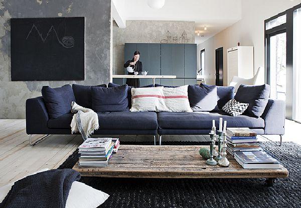 modern countryside houses living room design
