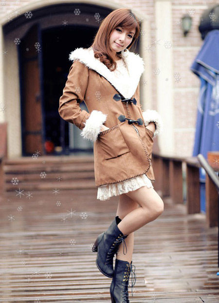Shoes Fall Coat Jacket Winter Style Korean Trends 2012