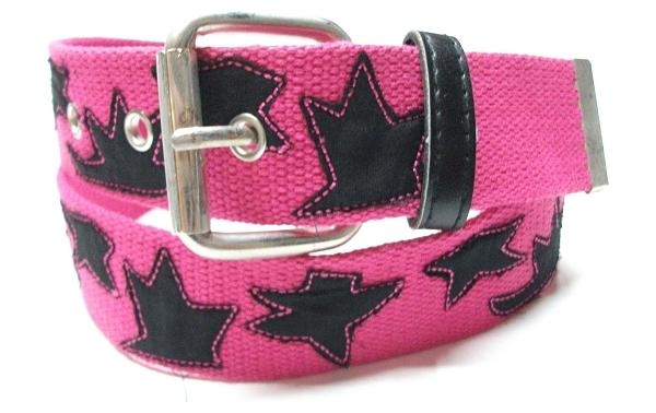 pink canvas belt for girls trends 2012