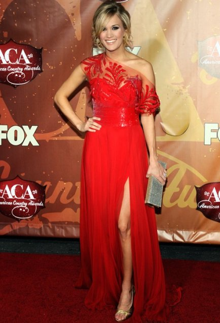 Carrie Underwood in Red Dress